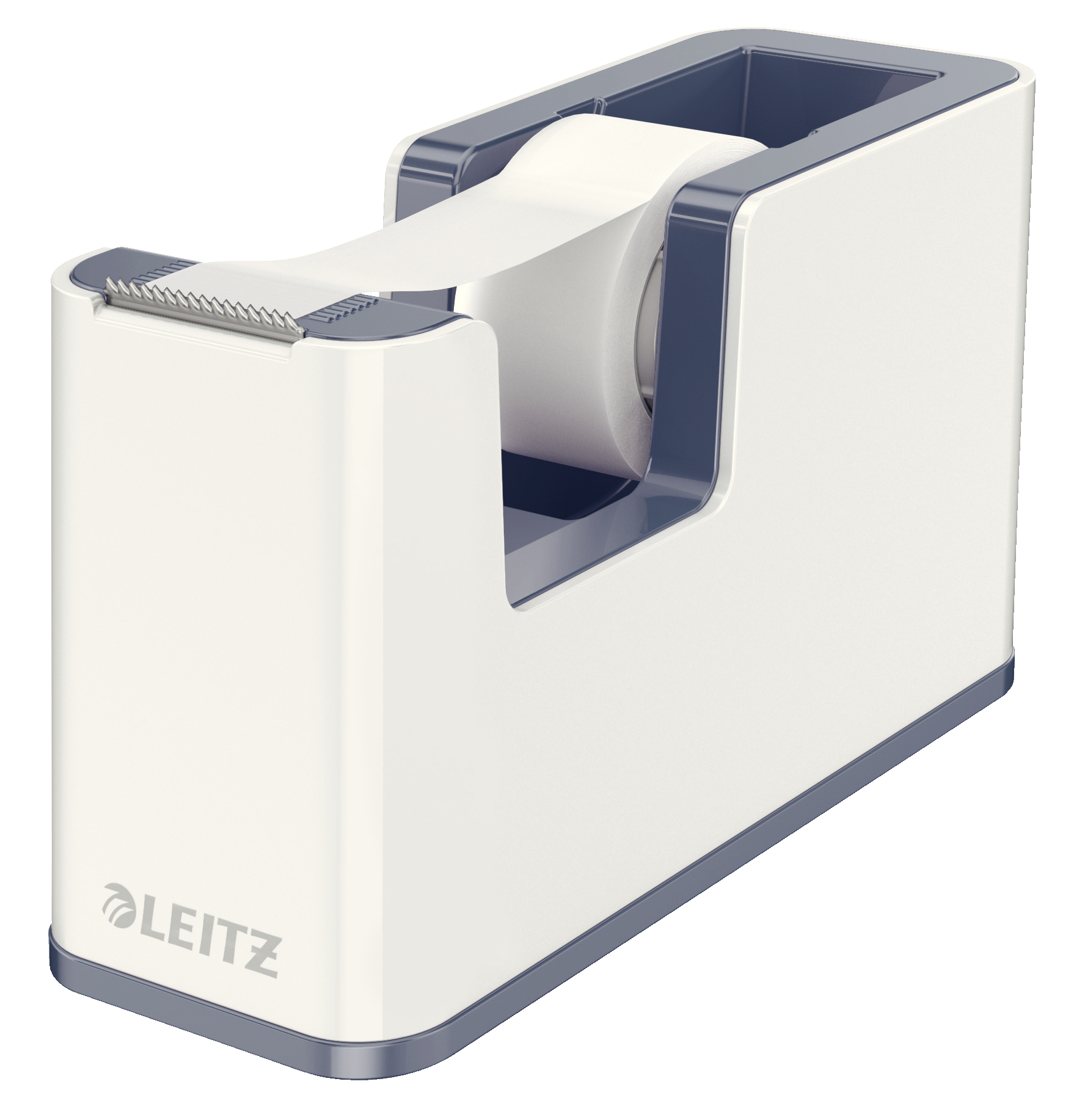 Leitz WOW Dual Colour Tape Dispenser for 19mm Tapes White/Grey 53641001