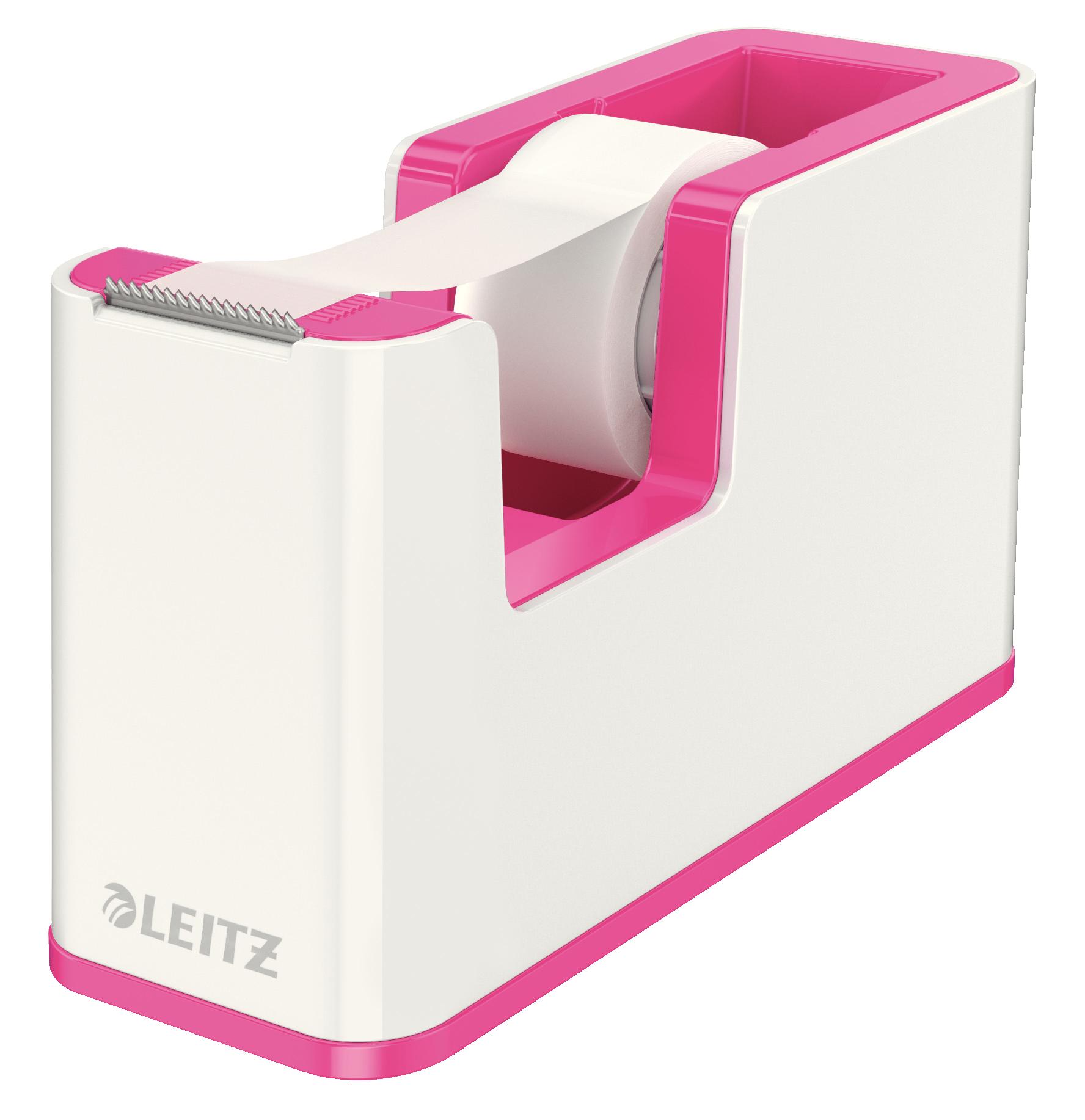 Leitz WOW Duo Colour Tape Dispenser Pink 53641023 (PK1)