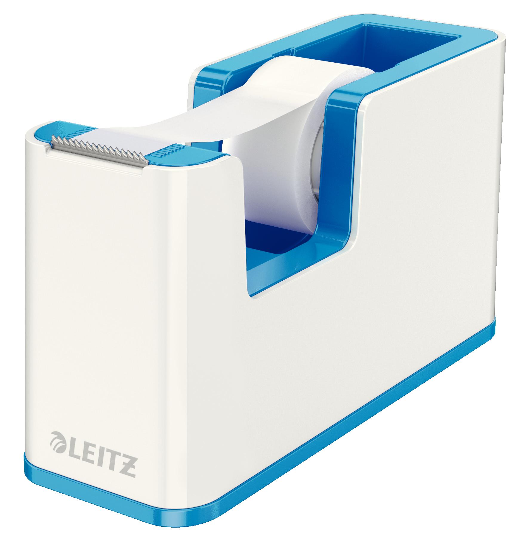 Leitz WOW Dual Colour Tape Dispenser for 19mm Tapes White/Blue 53641036