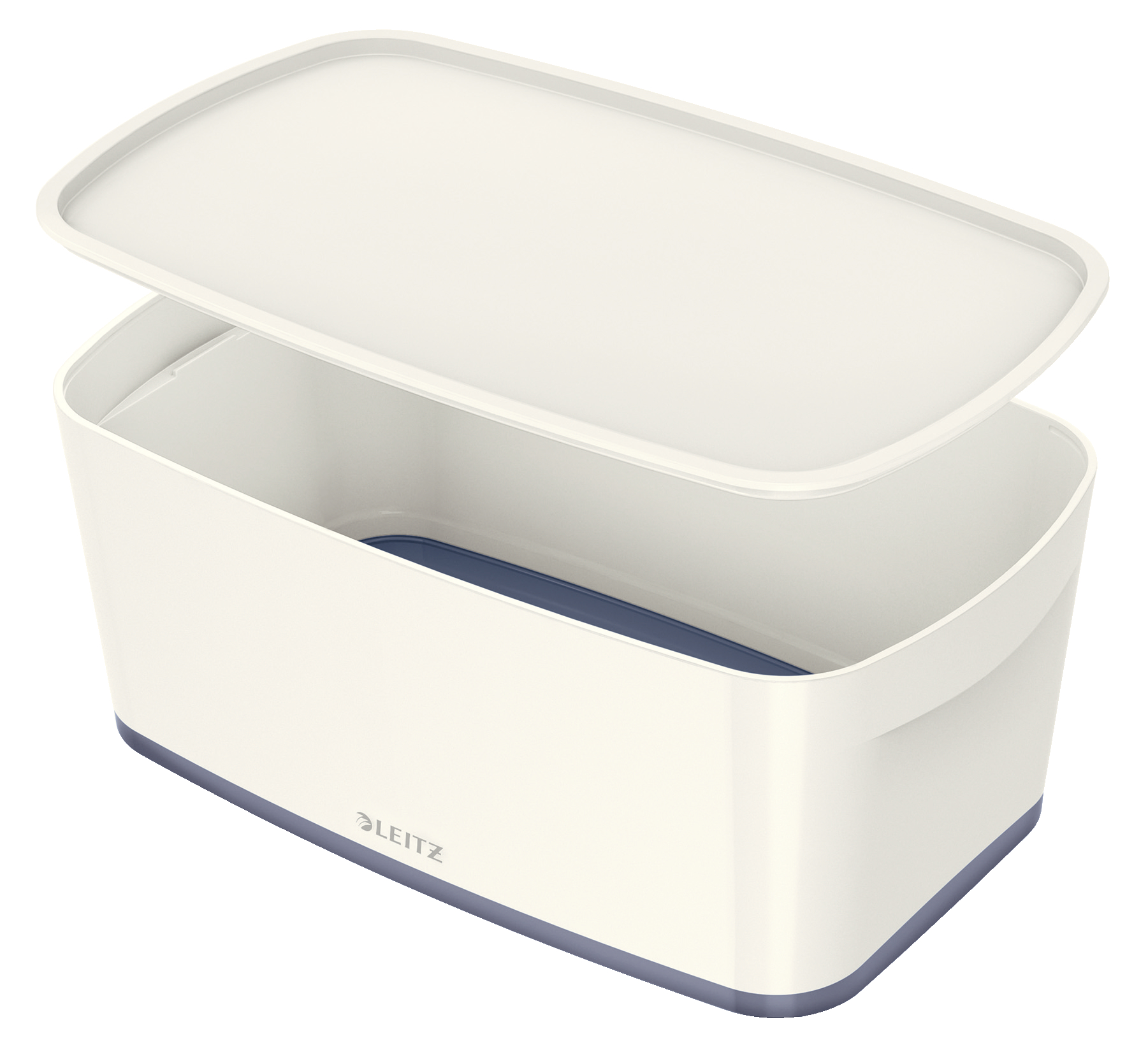 Leitz MyBox Small with Lid WOW White Grey