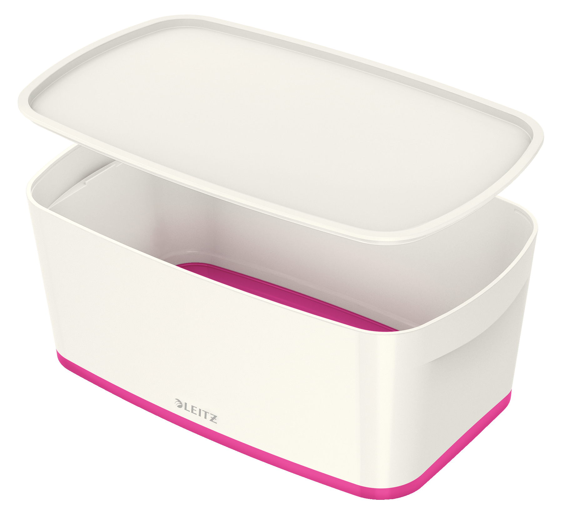 Storage Boxes Leitz MyBox Small with Lid WOW White Pink