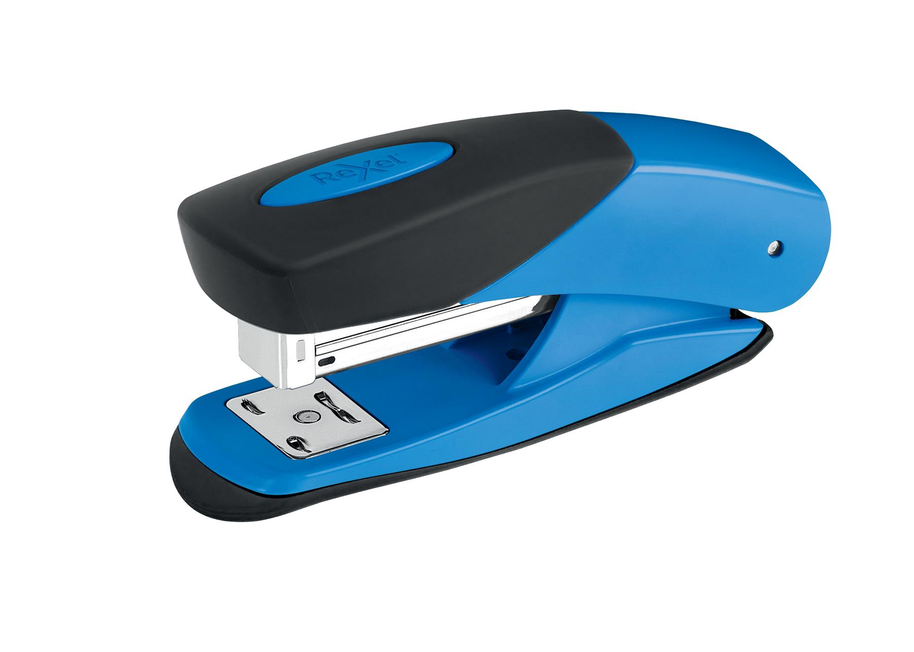 Rexel Choices Matador Half Strip Stapler Metal 25 Sheet Blue