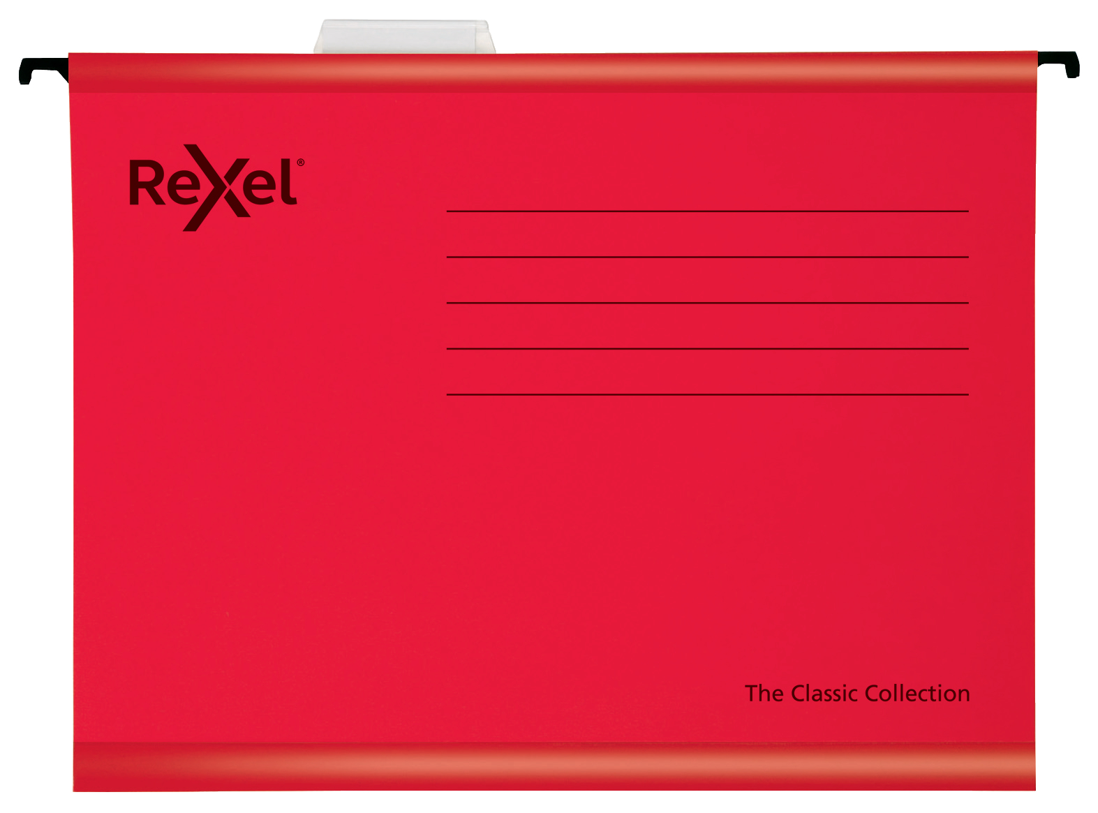 Rexel Classic A4 Suspension File Card 15mm V Base Red (Pack 25) 2115589