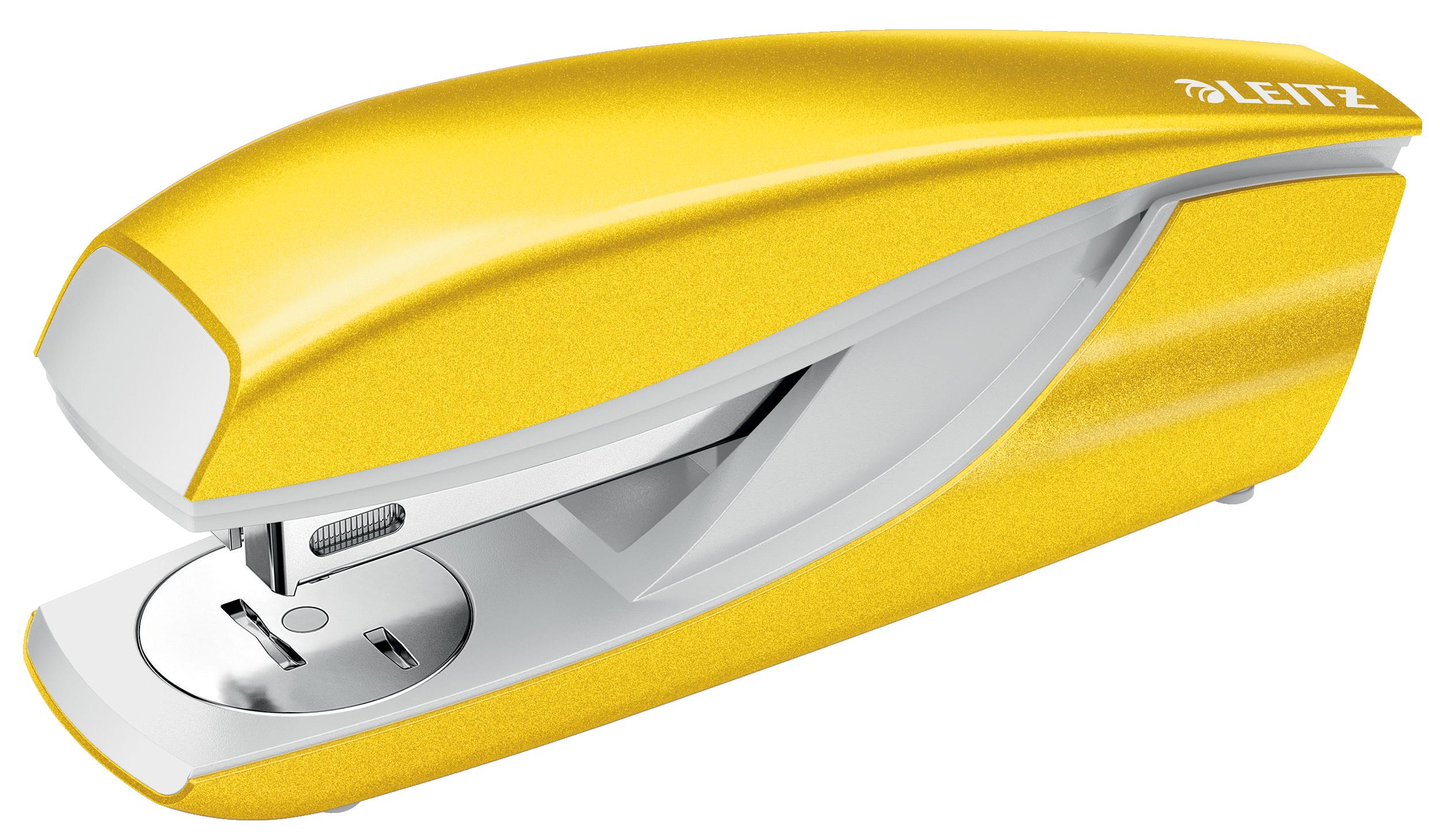 Leitz New NeXXt WOW Metal Office Stapler 30sh Yellow