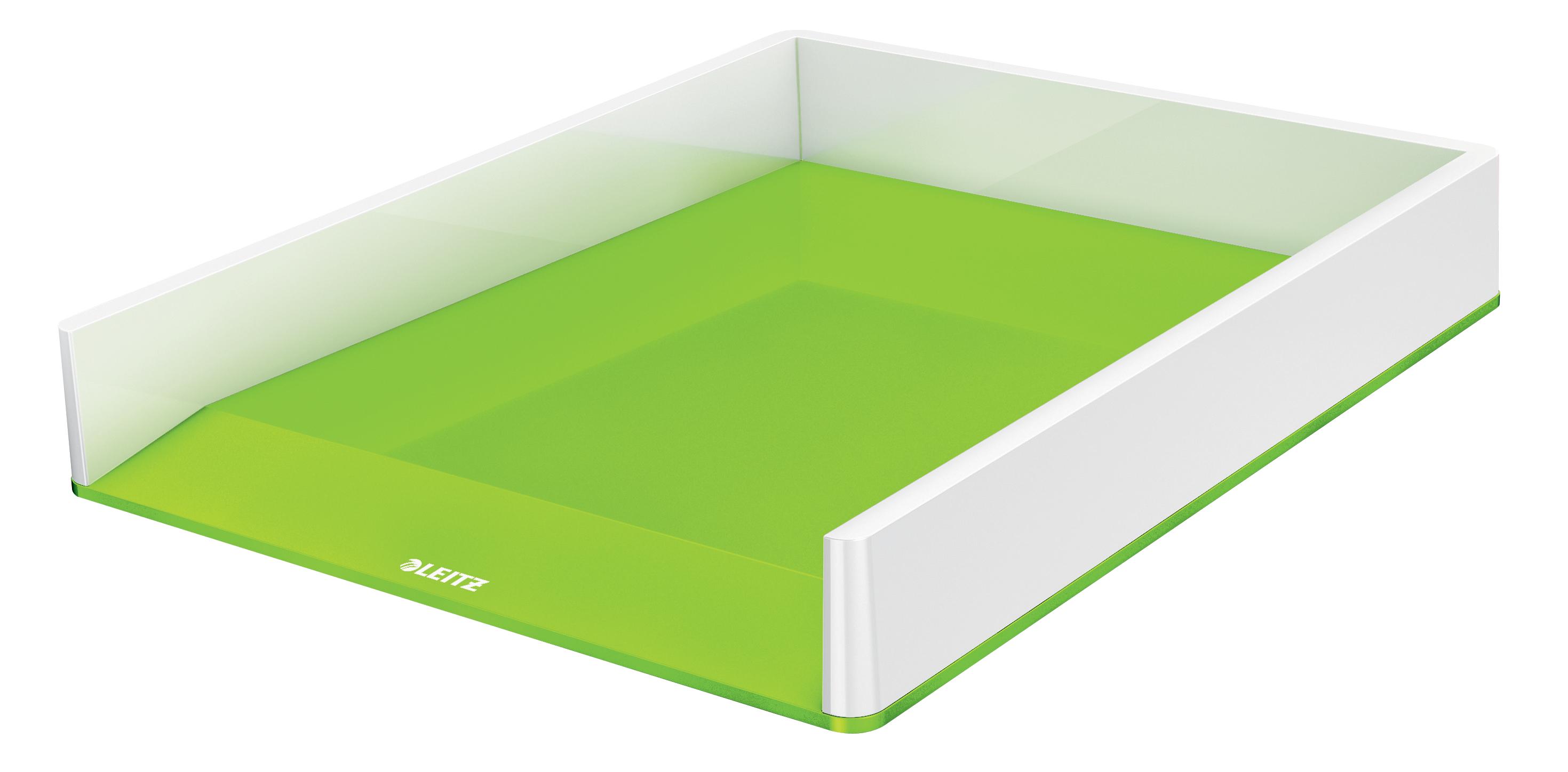 Letter Trays Leitz WOW Letter Tray Dual Colour White/Green