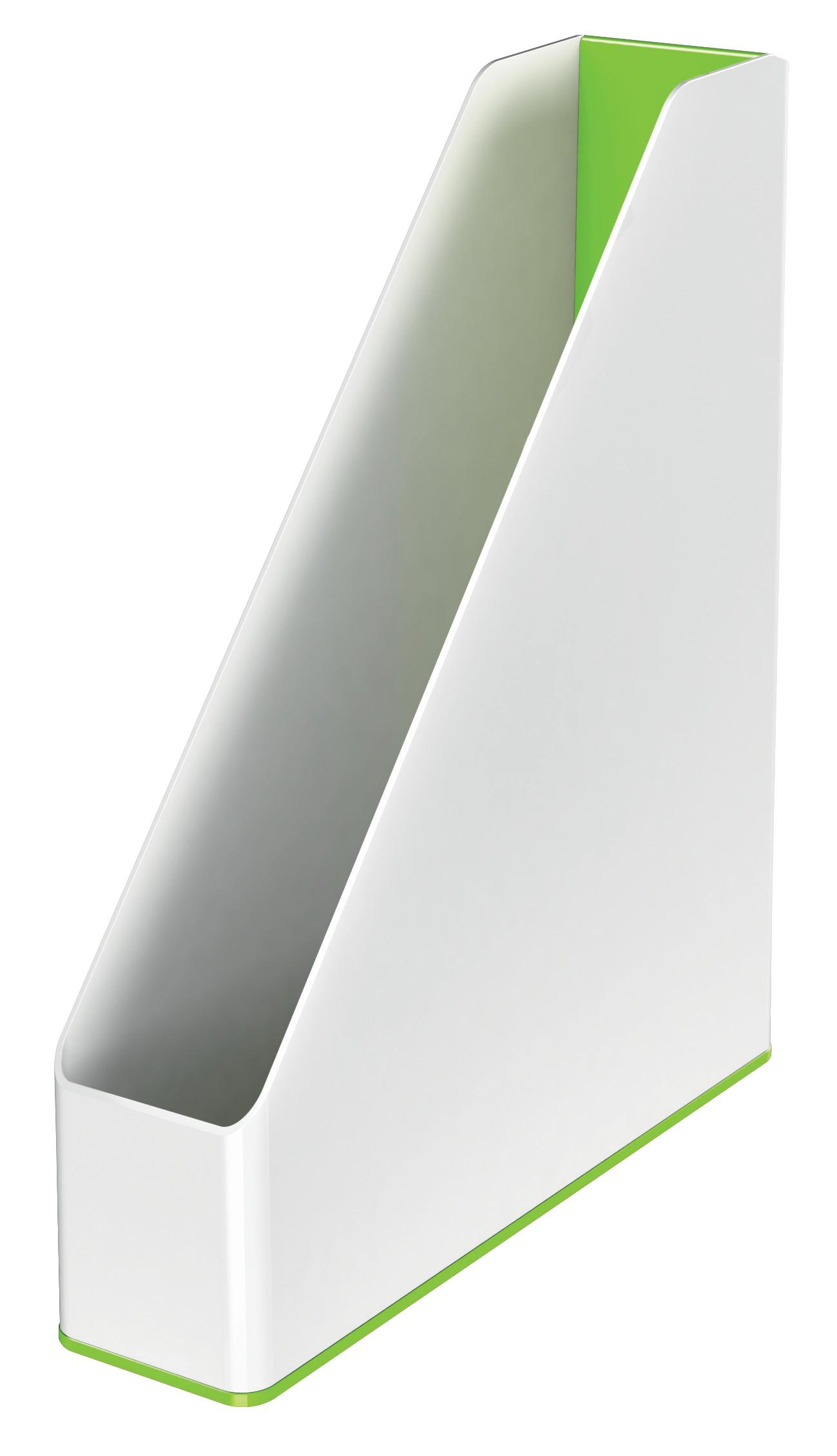 Leitz WOW Magazine File Dual Colour White/Green