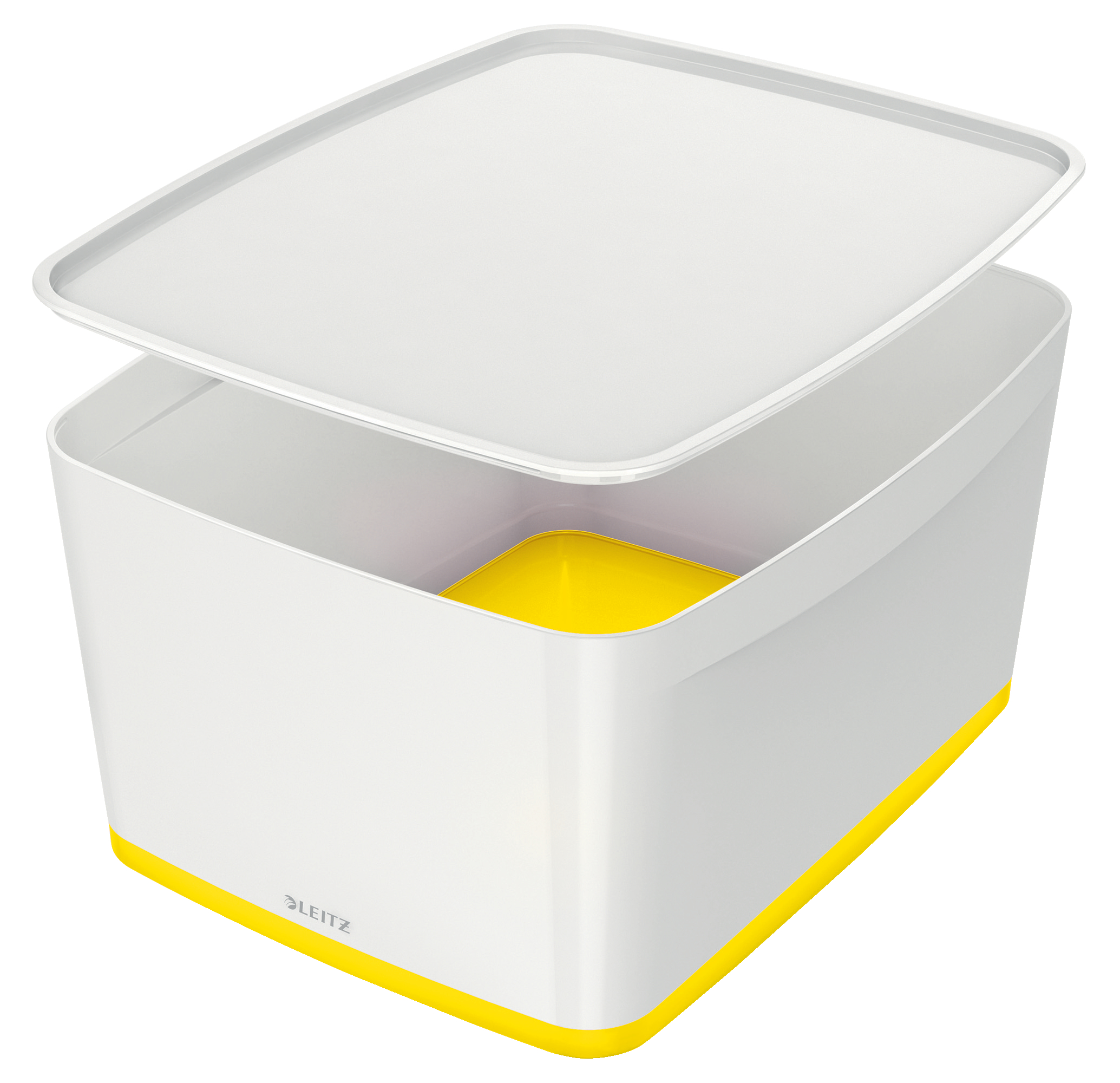 Leitz MyBox Large with Lid WOW White Yellow