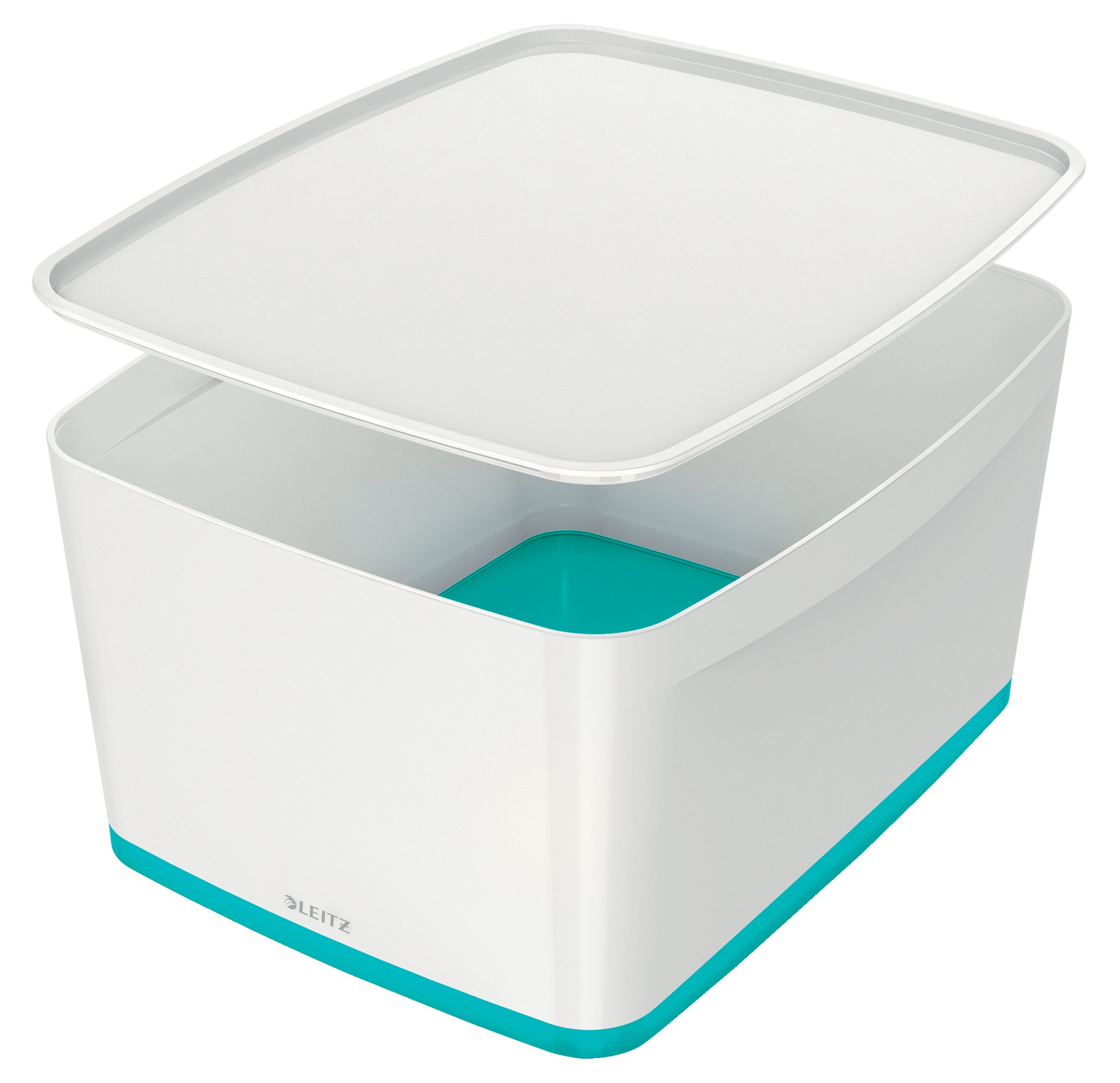 Leitz MyBox Large with Lid WOW White Ice Blue