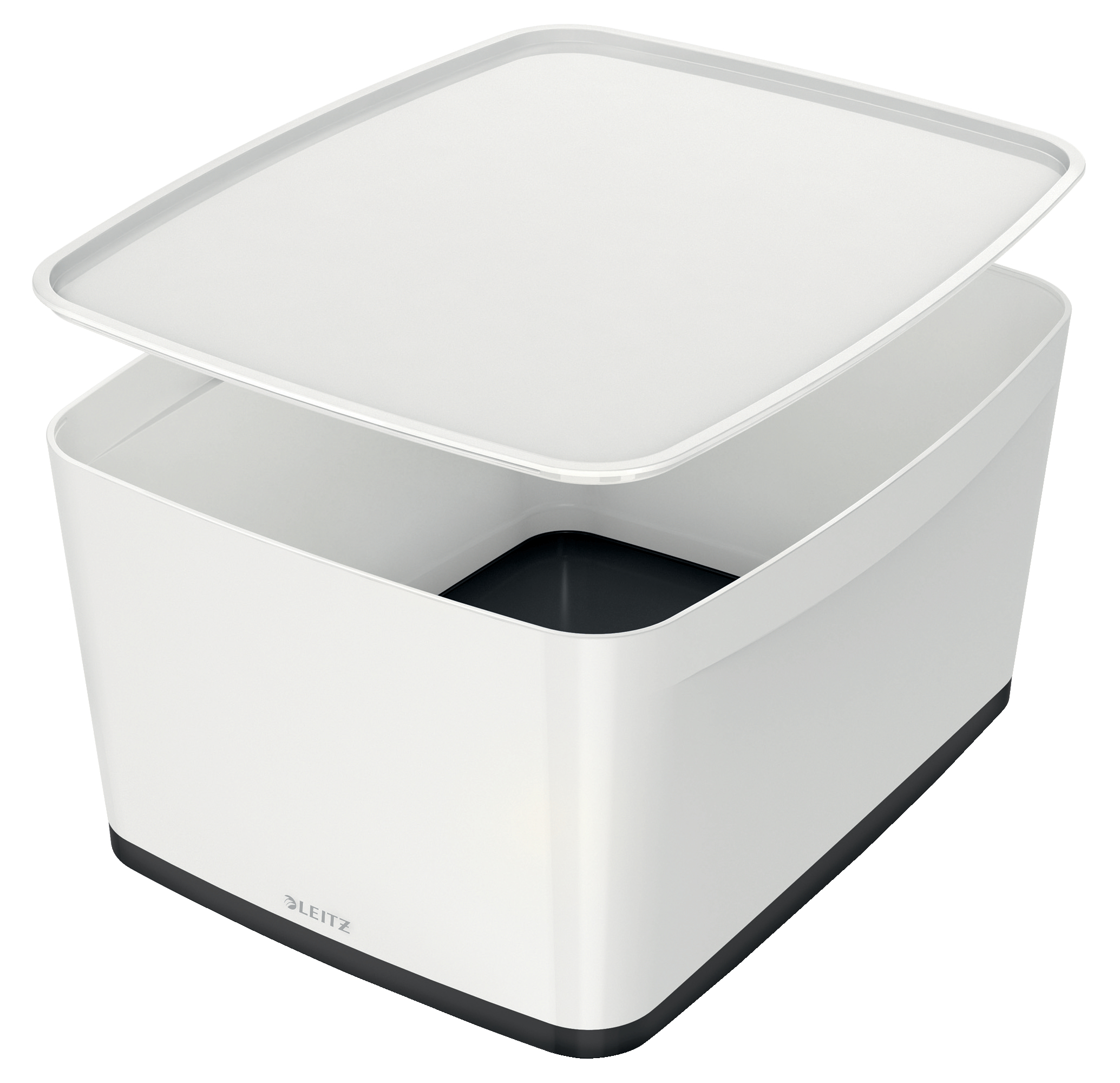 Leitz MyBox Large with Lid WOW White Black