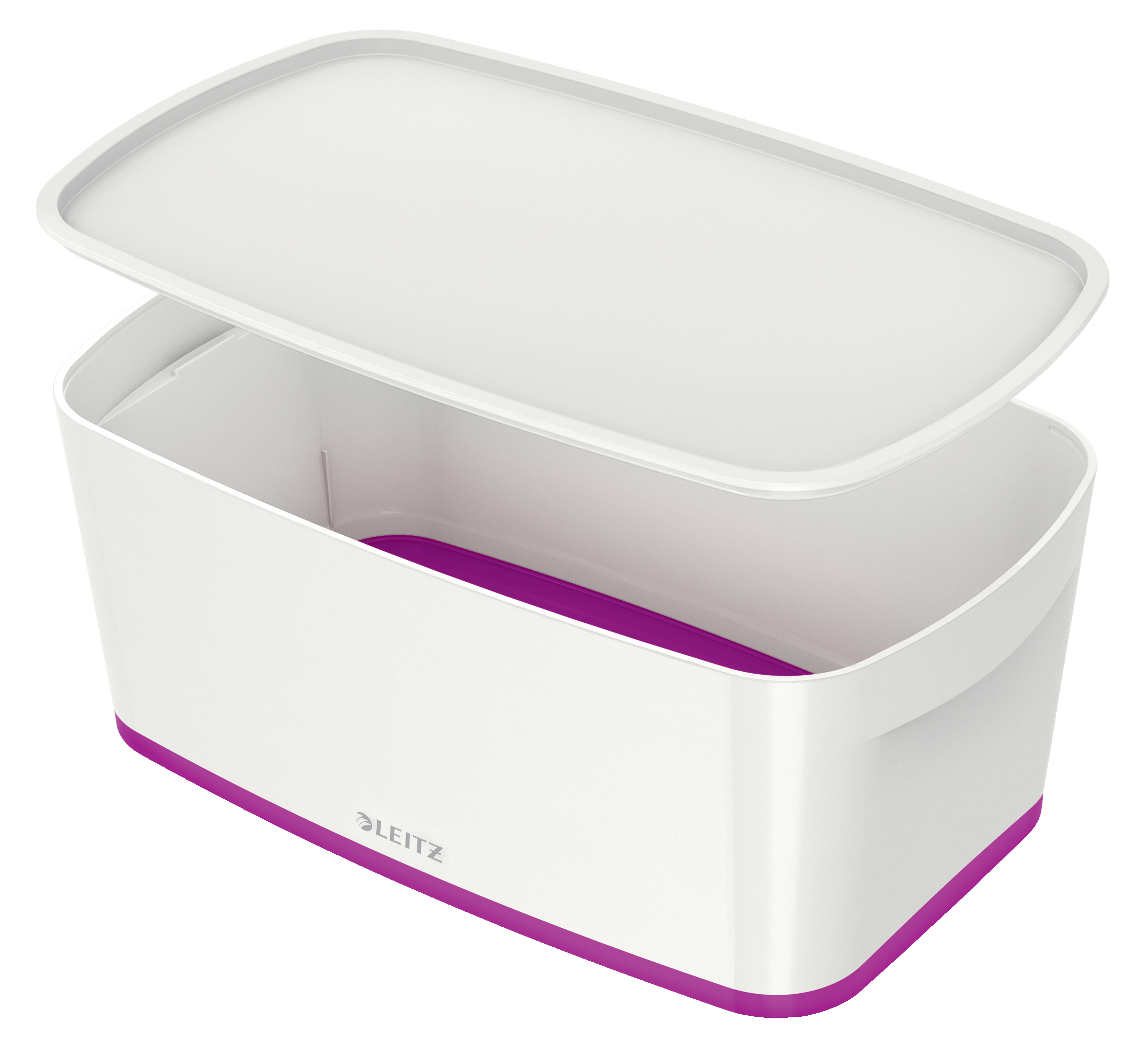 Storage Boxes Leitz MyBox Small with Lid WOW White Purple
