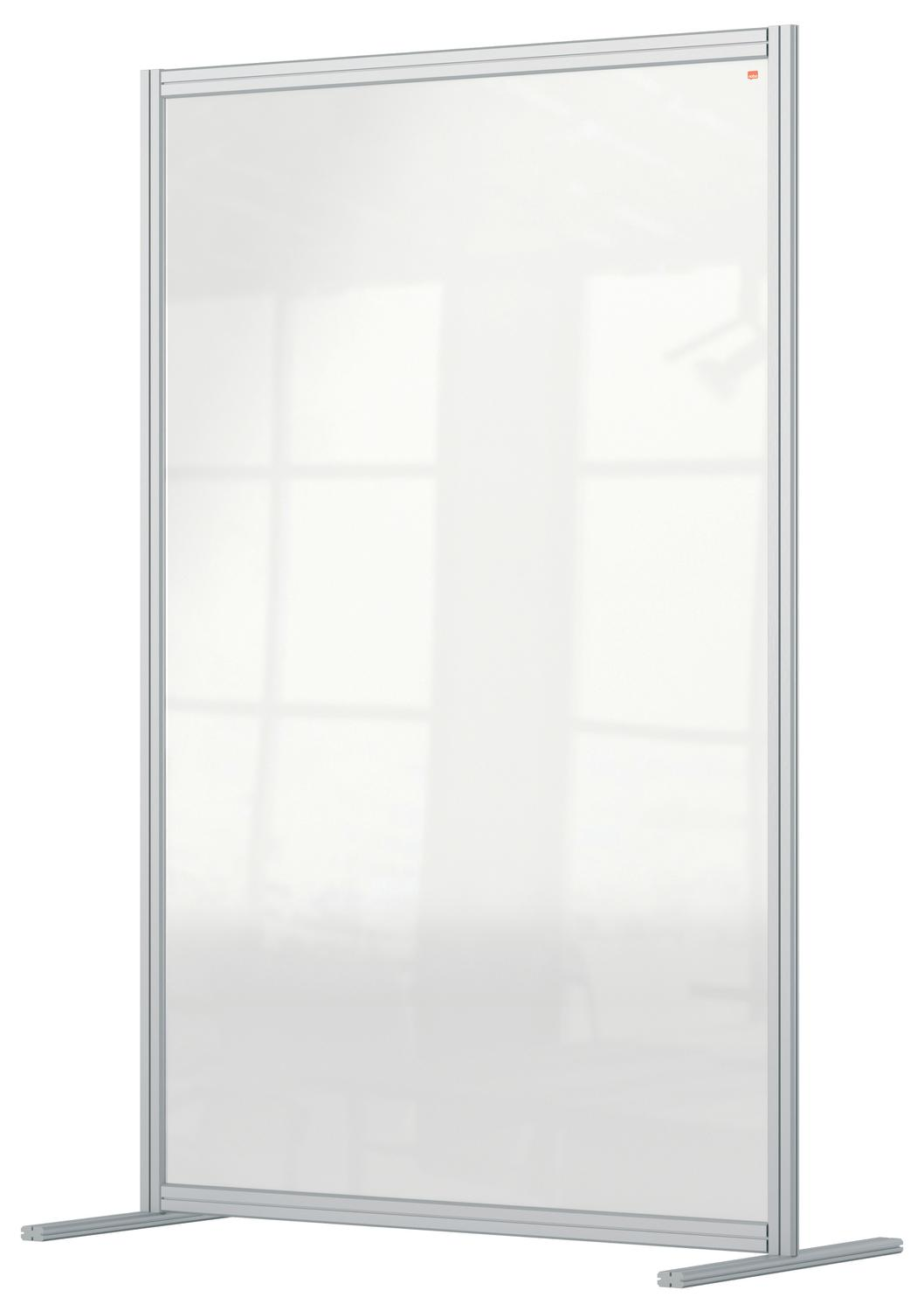 Nobo Premium Plus Acrylic Free Standing Protective Room Divider Screen Modular System 1200x1800mm Clear