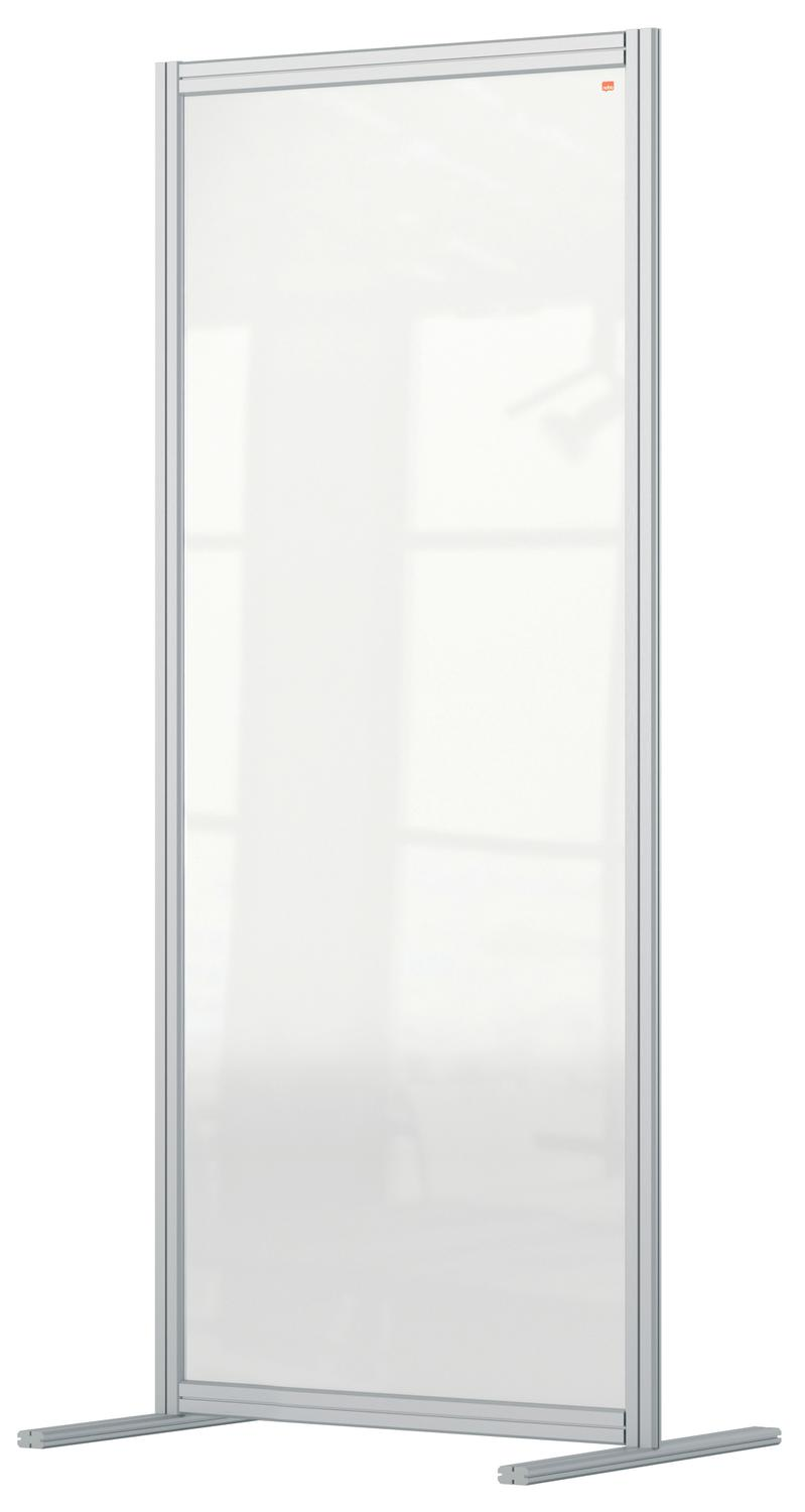 Straight Tops Nobo Premium Plus Floor Divider 800x1800mm Acrylic