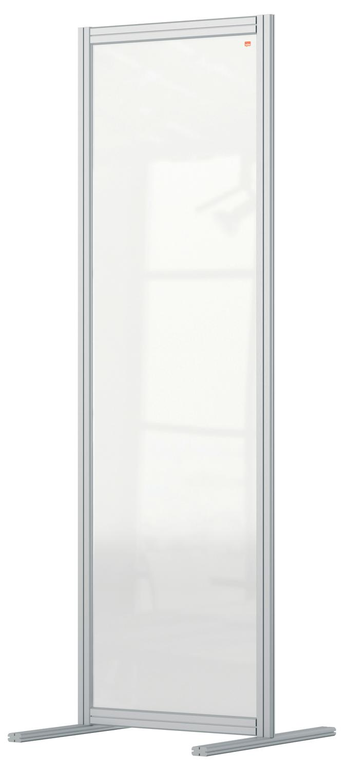 Straight Tops Nobo Premium Plus Floor Divider 600x1800mm Acrylic