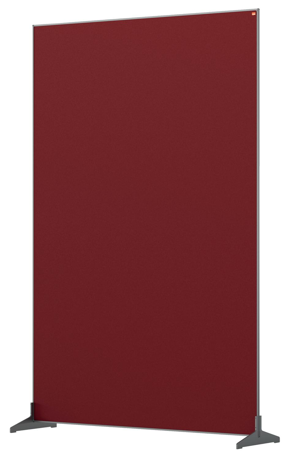 Straight Tops Nobo Impression Pro Floor Divider 1200x1800mm Red