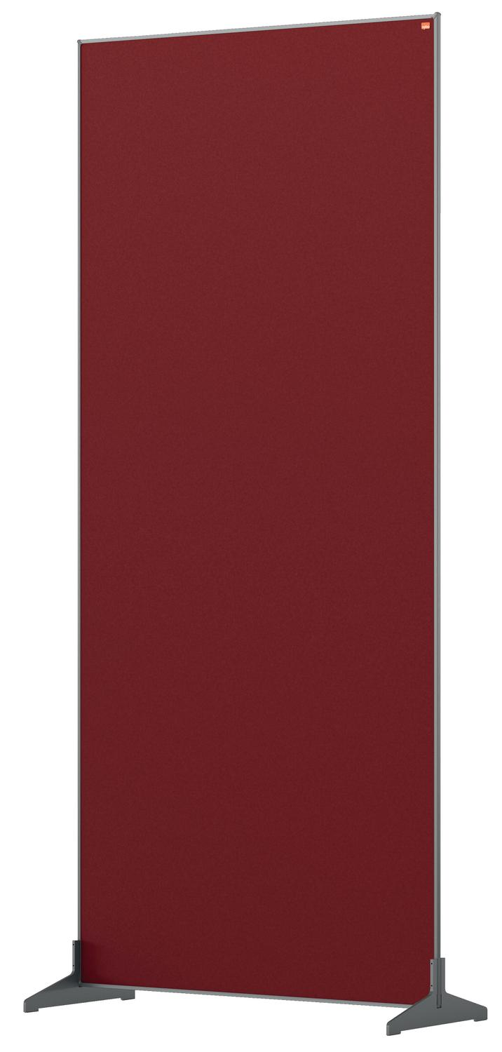 Straight Tops Nobo Impression Pro Floor Divider 800x1800mm Red