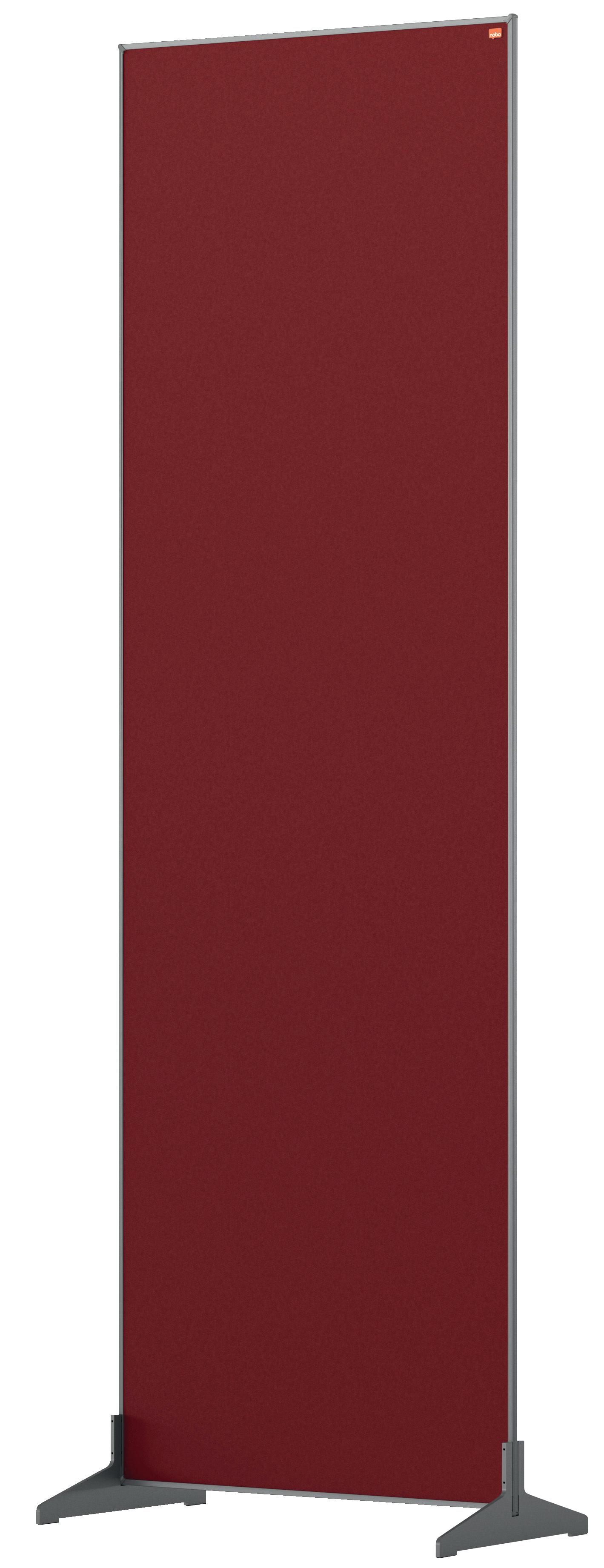 Straight Tops Nobo Impression Pro Floor Divider 600x1800mm Red