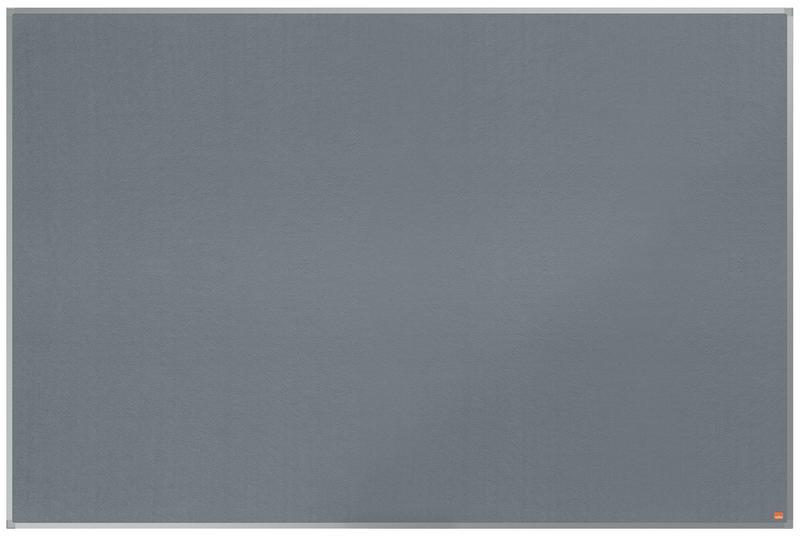 ValueX Grey Felt Noticeboard Aluminium Frame 1800x1200mm