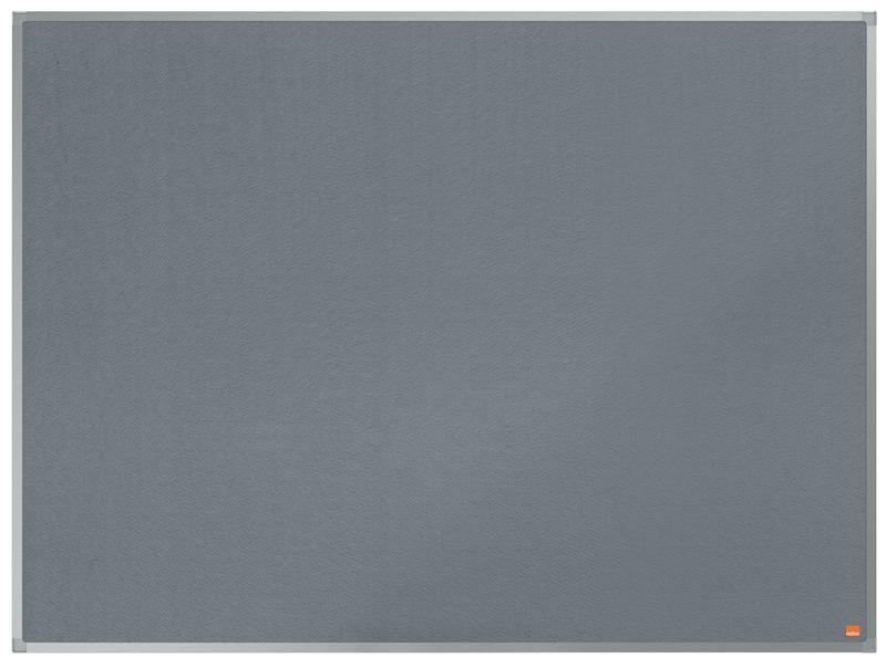 ValueX Grey Felt Noticeboard Aluminium Frame 1200x900mm