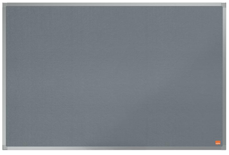 ValueX Grey Felt Noticeboard Aluminium Frame 900x600mm