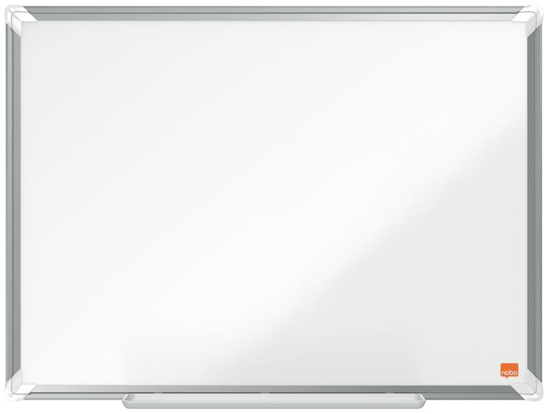 Magnetic Nobo Premium Plus Steel Magnetic Whiteboard 600x450mm