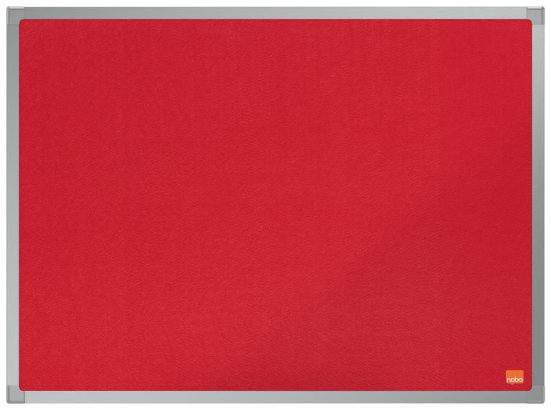Felt Nobo Essence Red Felt Notice Board 600x450mm