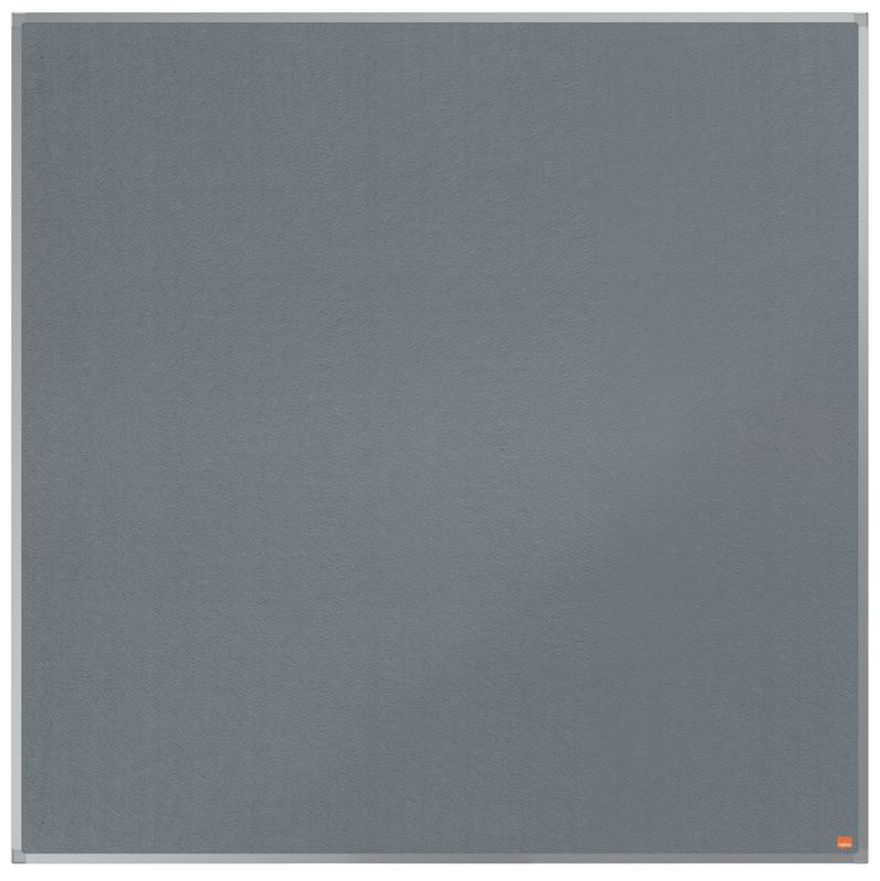 Nobo Essence Grey Felt Noticeboard Aluminium Frame 1200x1200mm