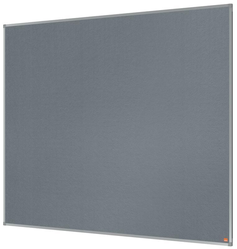 Nobo Essence Grey Felt Noticeboard Aluminium Frame 1500x1200mm