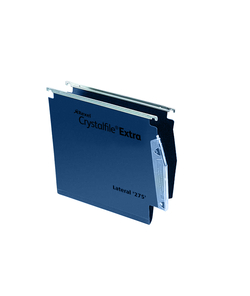 Rexel Crystalfile Extra Lateral File 275 PP 50mm Blue PK25