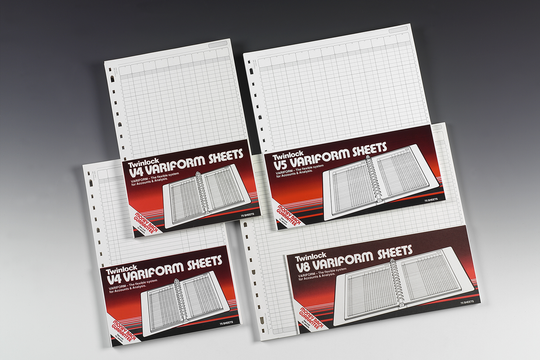 Accounts Binders & Refills Twinlock Variform V4 6 Cash Column PK75
