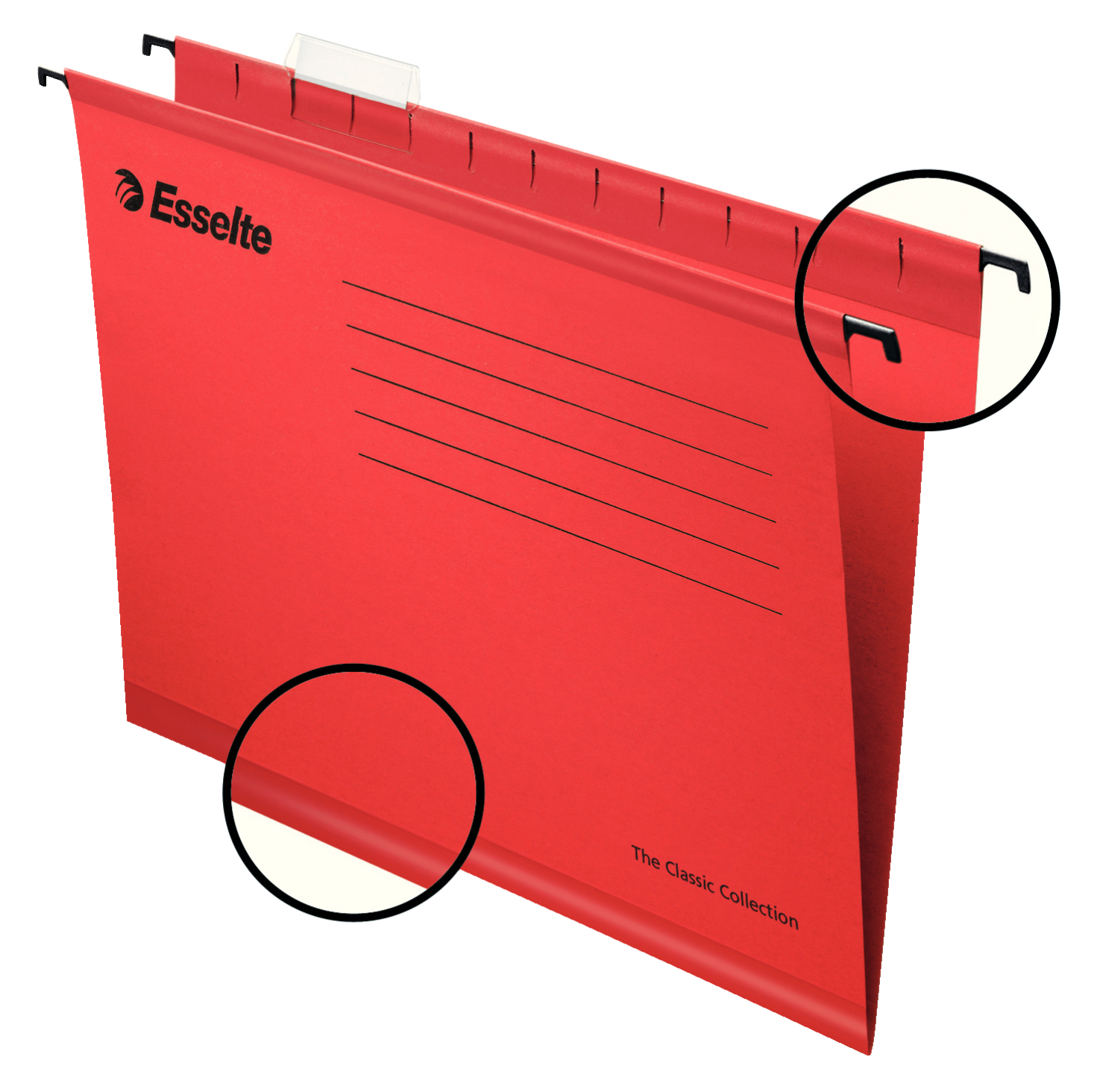 Esselte Classic Suspension File A4 Red PK25