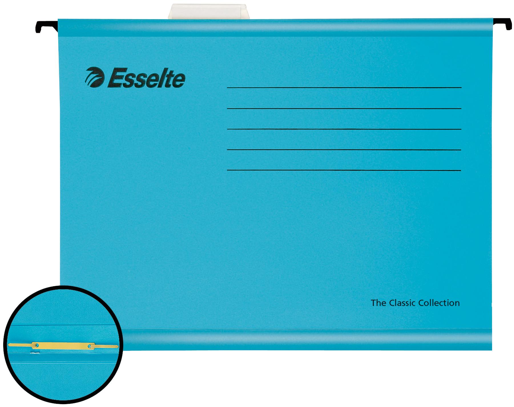 Esselte Pendaflex Reinforced Susp File A4 Blue BX10