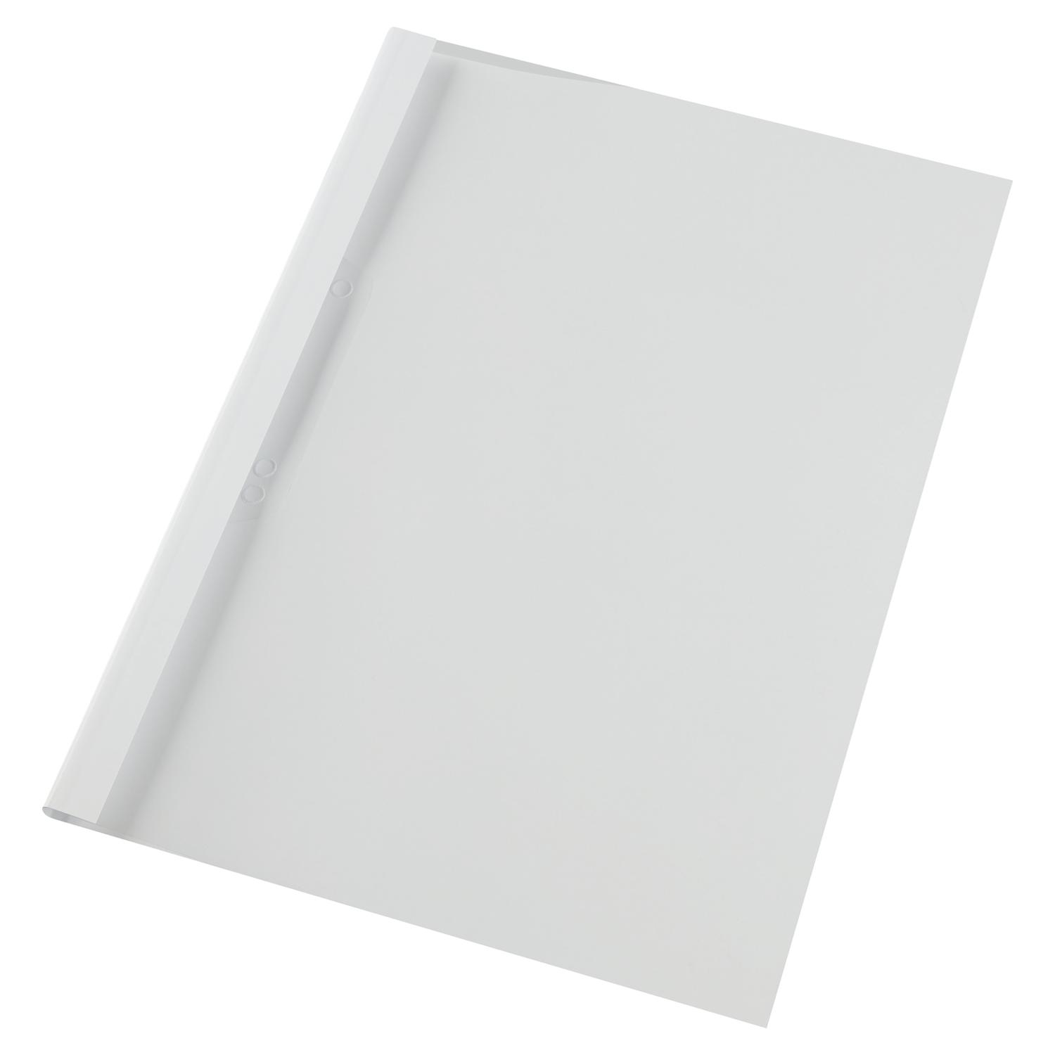 GBC A4 Thermal Binding Covers 4mm Gloss White PK1000