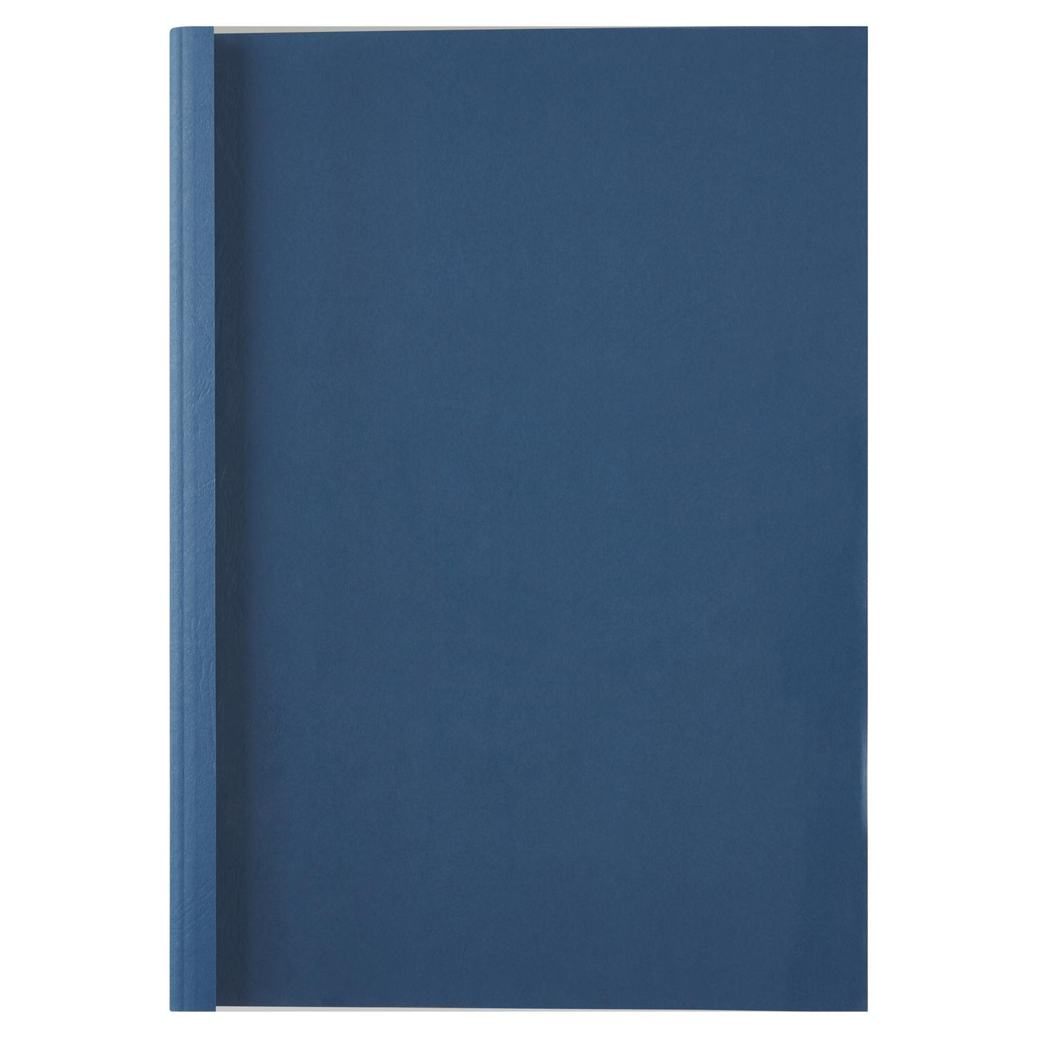 Thermal Bind Covers GBC A4 Thermal Binding Covers 1.5mm Leather Royal Blue PK100