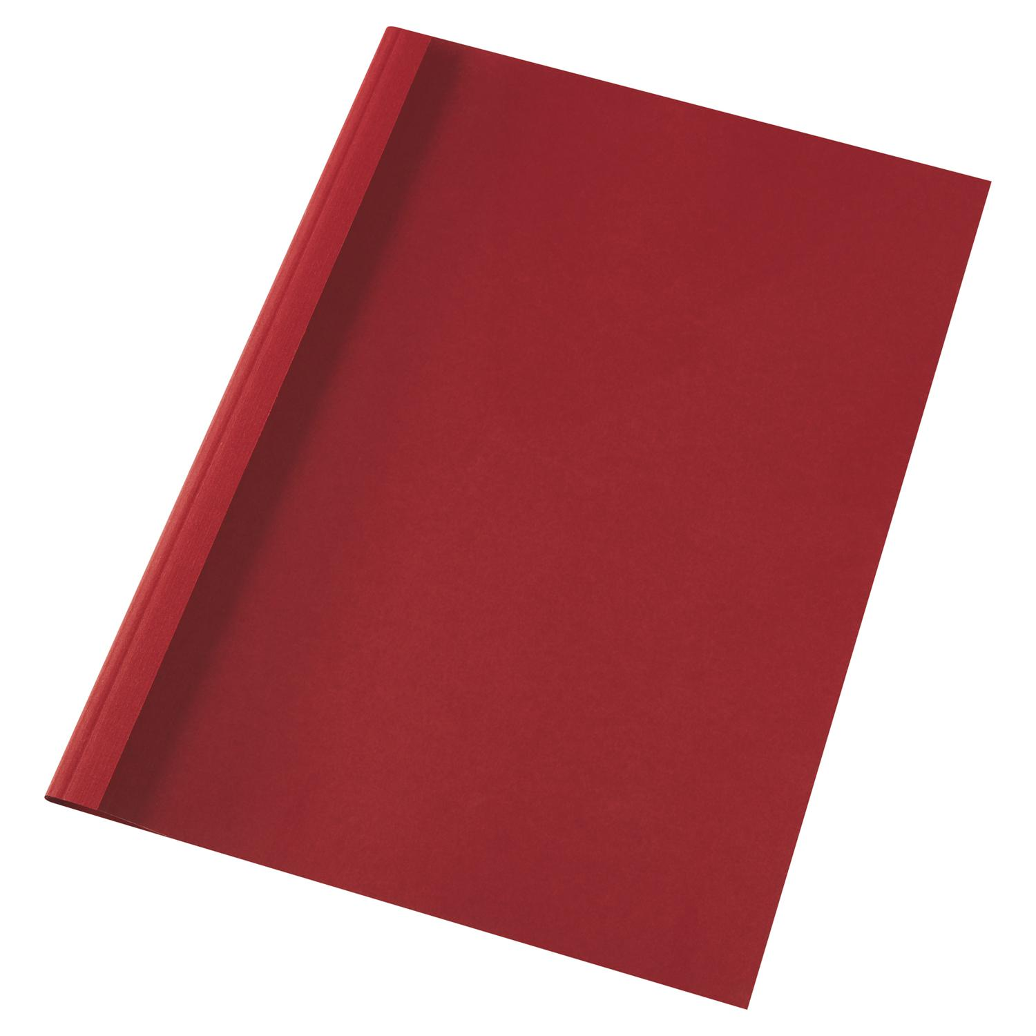 Thermal Bind Covers GBC A4 Thermal Binding Covers 1.5mm Leathergrain Red PK100