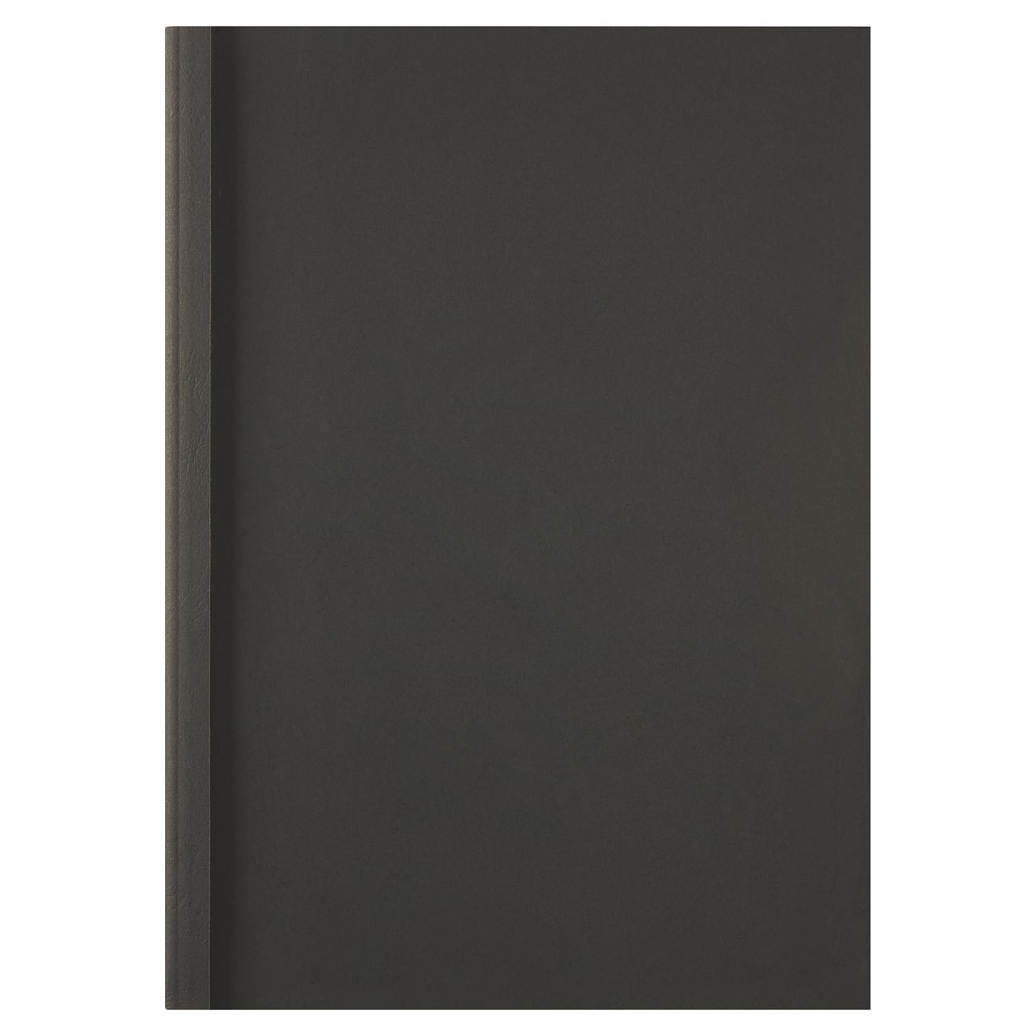 GBC A4 Thermal Binding Covers 1.5mm Leathergrain Black PK100