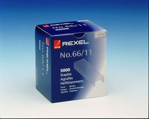 Rexel No66 Staples 11mm 06070 (PK5000)