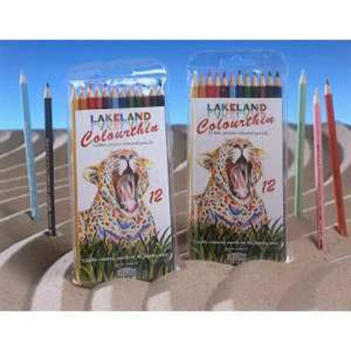 Lakeland Colour Thin Colouring Pencils Hexagonal Barrel Hard-wearing Wallet Asstd Ref 0700077 [Pack 12]