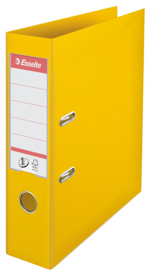 Esselte No.1 Power Polypropylene Lever Arch File A4 75mm Yellow 624070