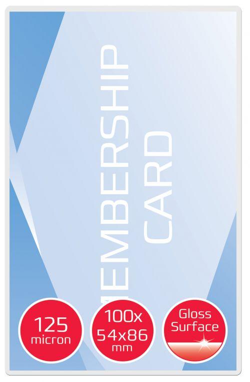 GBC Card Pouch Gloss 54x86mm 125 micron PK100