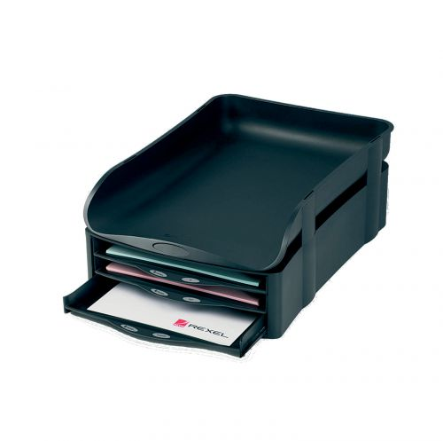 Rexel Agenda2 A4/Foolscap 55mm Letter Tray Charcoal