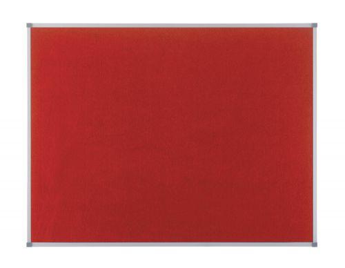 Nobo 900x600mm Eclipse Noticeboard Felt Alu Frame Red