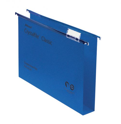 Rexel Crystalfile Classic Foolscap Suspension File Manilla 30mm Blue (Pack 50)