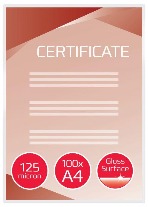 GBC Laminating Pouch A4 2x125 micron 3200723 (PK100)