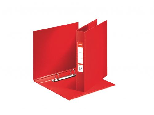 Esselte PVC 2 Ring Binder 25mm Capacity A5 Red PK10