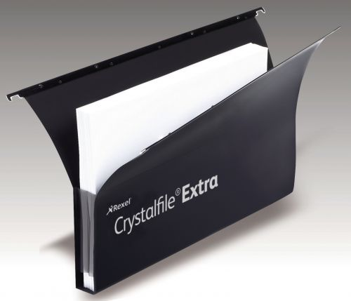 Crystalfile Extra Secura 30mm Fscap Susp Files Black BX20