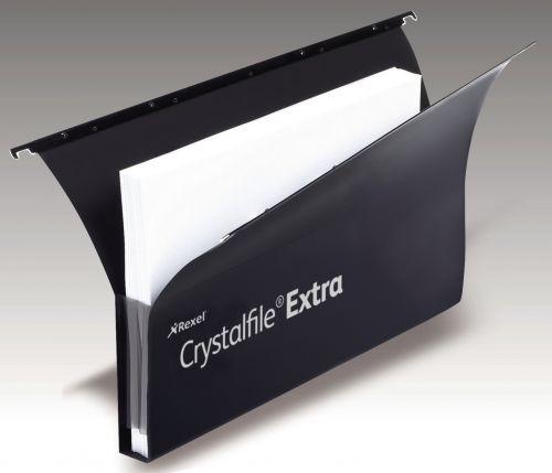 Crystalfile Extra Secura 30mm Fscap Susp Files Black BX20