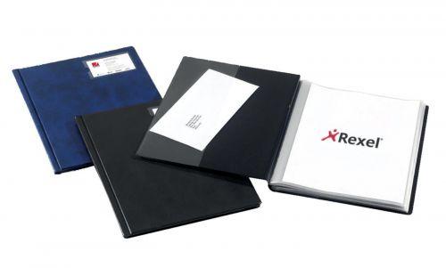 Rexel Slimview Display Book 12 Pocket Black 10005BK