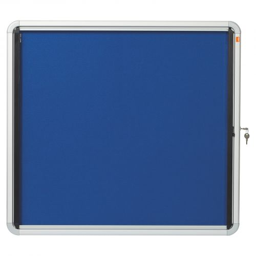 Nobo Glazed Case Internal Fabric 6x A4 Blue