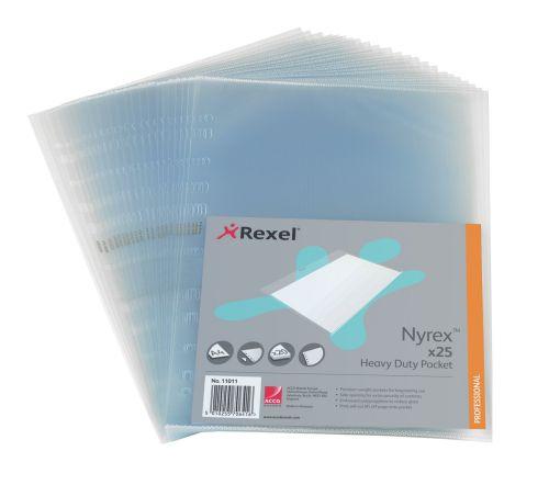 Rexel Nyrex Heavy Duty Clear Pocket A4 110micron 11011(PK25)