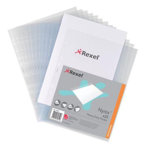 Rexel HeavyDuty Clear Pocket A4 Top n SideOpenA4 11031(PK25)